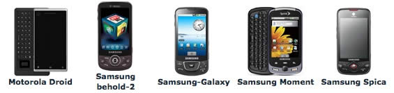 Android Spy Software Supported Android Phones (Motorola Droid, Samsung Behold-2, Samsung Galaxy, Samsung Moment, Samsung Spica)